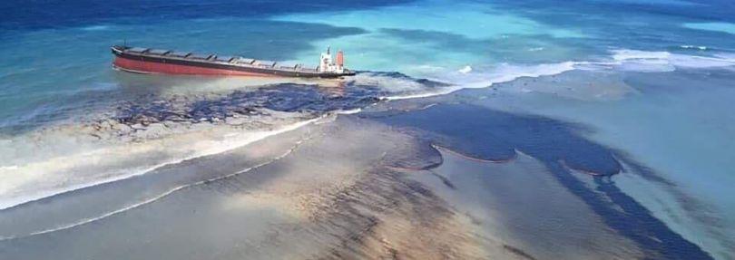 Frachter vor Mauritius
