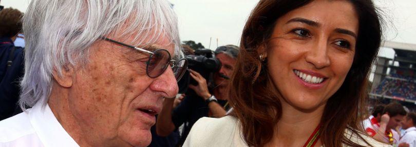 Bernie Ecclestone und seine Ehefrau Fabiana Flosi