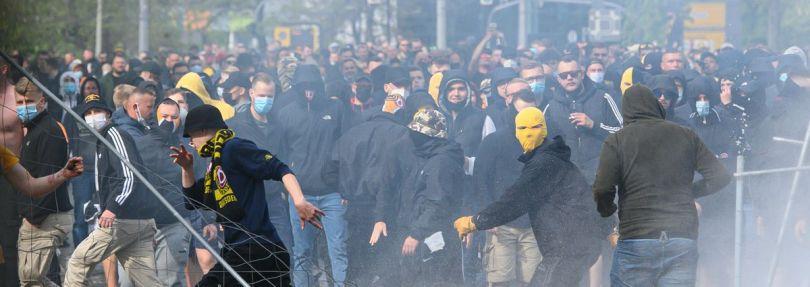 Fußball-Krawalle bei Dynamo Dresden