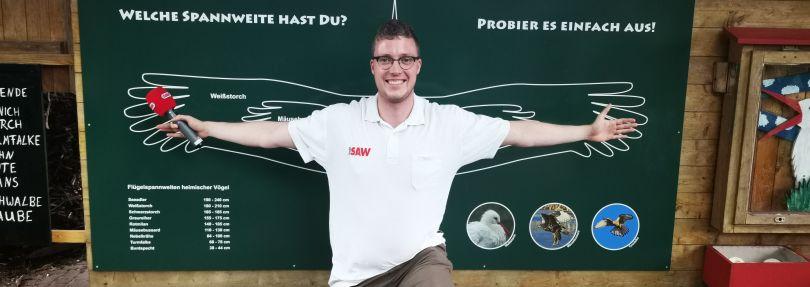 Reporter Max Hensch im Storchenhof Loburg