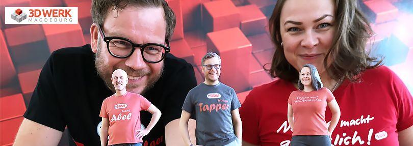 3D-Werk Figuren von Tapper, Rathke und Abel