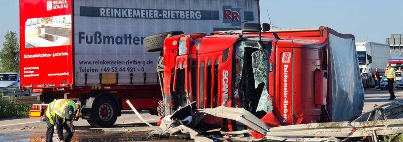 Unfallort auf der Autobahn 9
