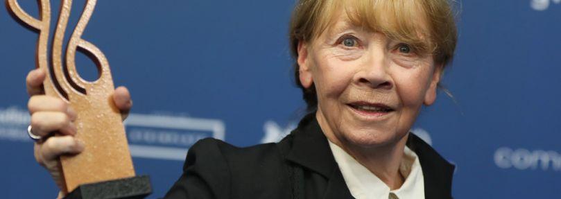Jutta Hoffmann 2017 mit dem Deutschen Schauspielerpreis