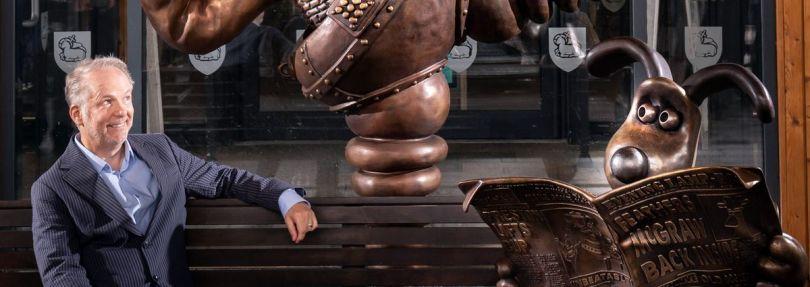 Skulptur von Wallace und Gromit