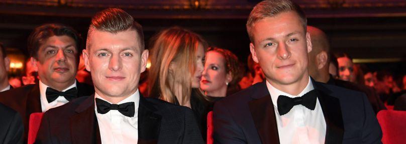 Toni Kroos (l) und sein Bruder Felix Kroos (r)