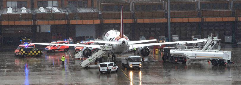 Eurowings-Maschine in Berlin-Tegel