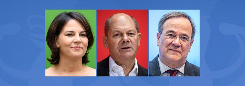 Annalena Baerbock, Olaf Scholz, Armin Laschet