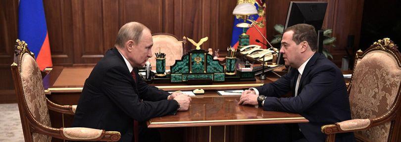 Wladimir Putin, Medwedew