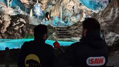 Markus Mende und Michel Holzberger in der Baumannshöhle