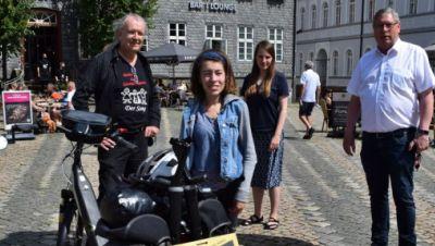 Maren Küppers startet zur Tour der Freiheit
