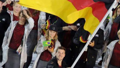 Symbolbild: Der Fahnenträger der Olympischen Spiele 2016 in Rio, Timo Boll