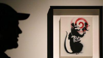 Banksy Kunst Ratte