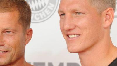 Filmemacher Til Schweiger und Fußball-Weltmeister Bastian Schweinsteiger.