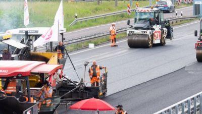 Baustelle auf Autobahn A2