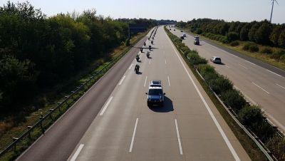 Biker-Sternfahrt auf der A2