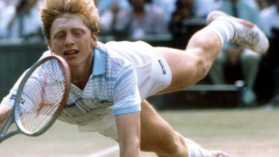 Boris Becker in Wimbeldon 1985