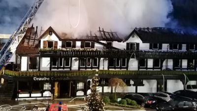 Brand in Drei-Sterne-Restaurant