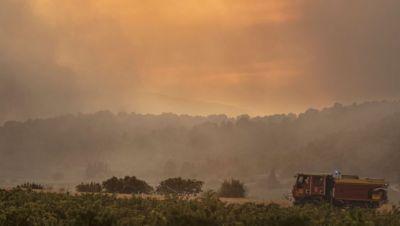 Brand Südfrankreich