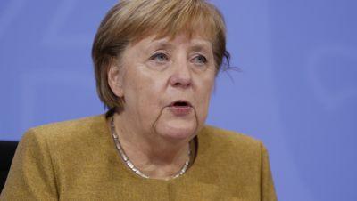 Pressekonferenz mit Angela Merkel