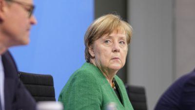 Merkel, Müller und Söder bei einer Pressekonferenz