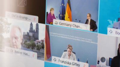 Bund-Länder-Konferenz Bildschirmaufnahme