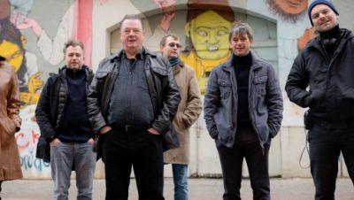 """Polizeiruf-Team in der ,,Freiraumgalerie"""" in Halle"""