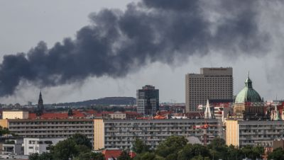 Großbrand in Leipzig