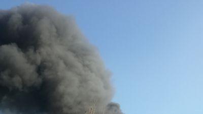 Rauchsäule über Magdeburg!