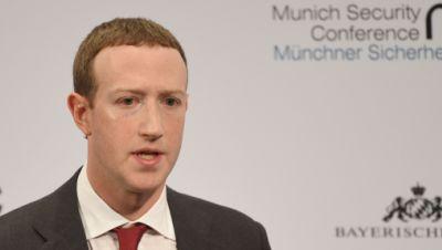 Mark Zuckerberg spricht auf der 56. Münchner Sicherheitskonferenz.