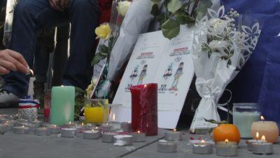 Gedenken an ermordeten Lehrer in Frankreich