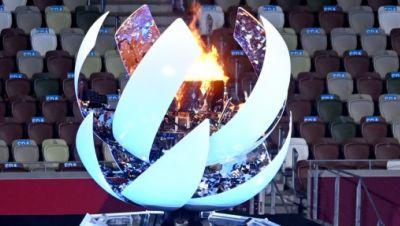 Olympische Flamme kurz vor dem erlöschen