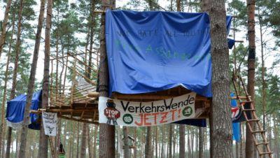Waldbesetzer in der Altmark