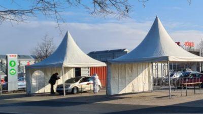 Schnelltest-Station Drive In Bördepark Magdeburg