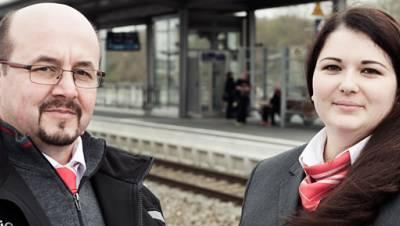 Lokführer Dirk Otte, Schaffnerin Maria Voigt