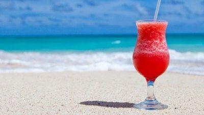 Urlaub, Strand, Cocktail