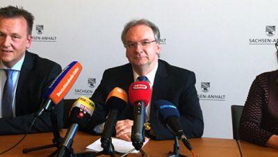 Burkhard Lischka (SPD), Reiner Haseloff (CDU), Claudia Dalbert (GRÜNE)