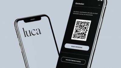 Die luca-App auf einem Smartphone