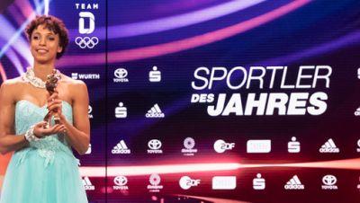 Weitspringerin Malaika Mihambo bei der Wahl zu den Sportlern des Jahres 2020